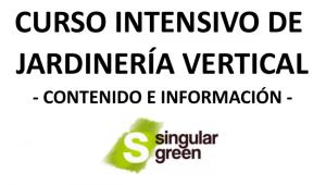 Programa curso de jardinería vertical - SingularGreen
