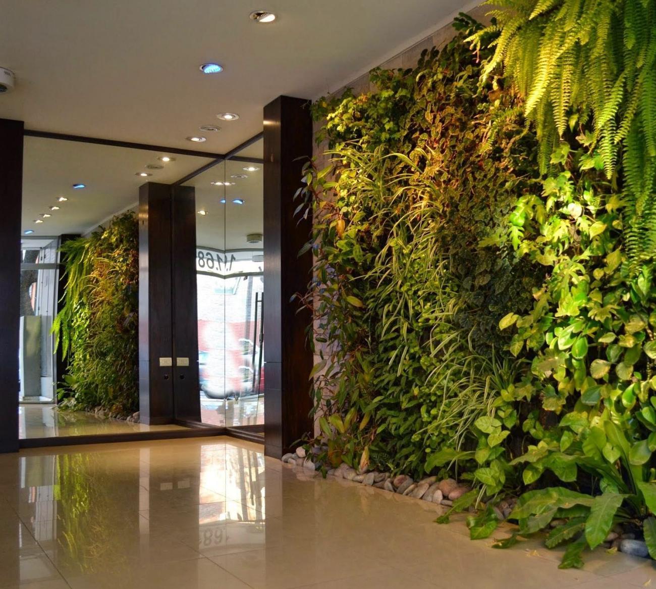 Jard n vertical en buenos aires roosevelt belgrano for Plantas recomendadas para jardin vertical