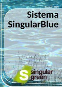 Catálogo con descripción de piscinas naturalizadas con el sistema singularblue