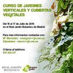Curso de jardines verticales y cubiertas en el Real Jardín Botánico de Madrid