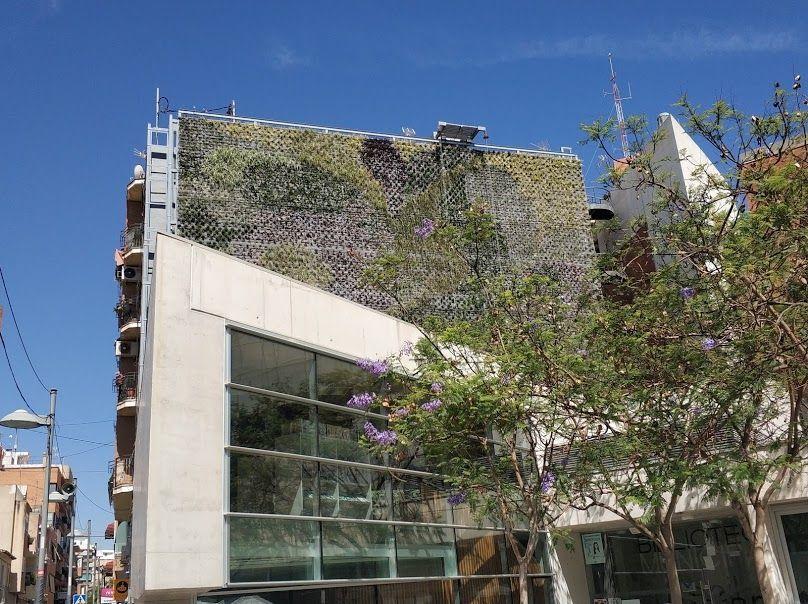 Jardin vertical de sistema F+P en San Vicente del Raspeig