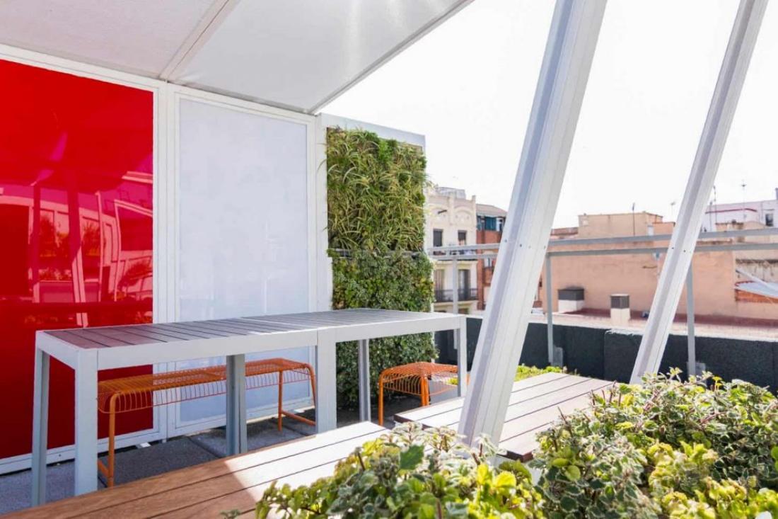 Pequeños jardines verticales en Barcelona