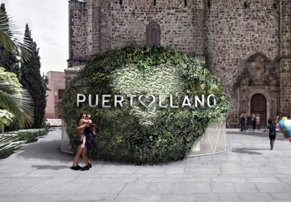 Estructura vegetal jardín vertical Puertollano