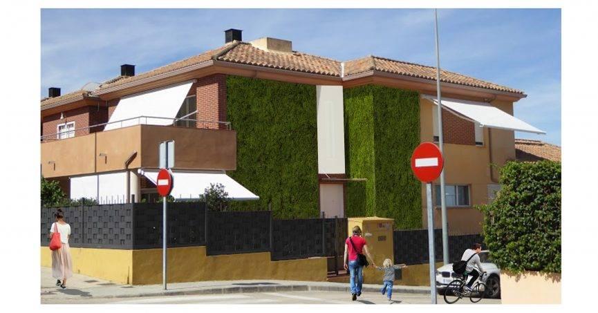 Propuesta de rehabilitación energética vegetal mediante Jardín Vertical en Xàtiva