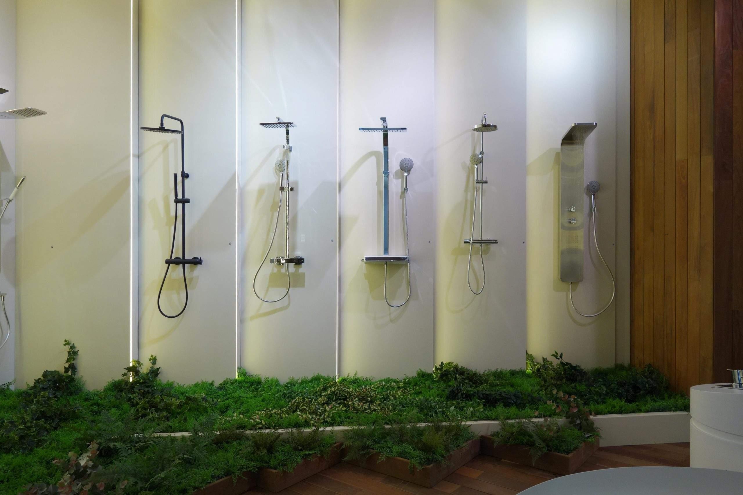 jardín de planta artificial noken porcelanosa bathroom