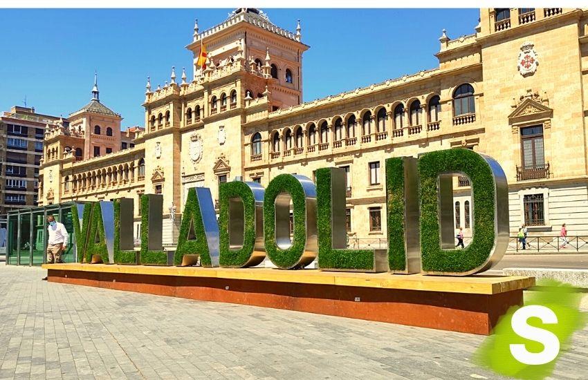 Letras vegetales en Valladolid