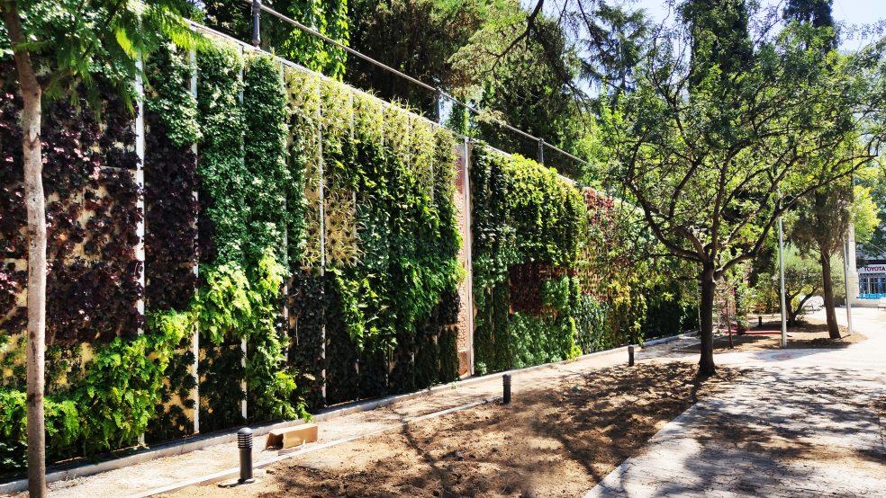 Jardín vertical en la empresa canal Isabel II Madrid