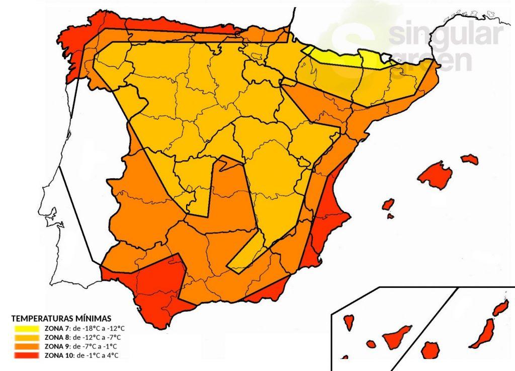 Zonas climáticas de España