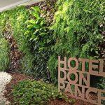Detalles en jardin vertical exterior Alicante