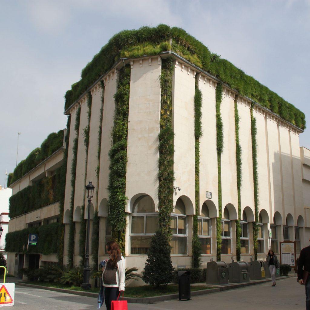 Jardin vertical en yuntamiento de Lucena, Cordoba