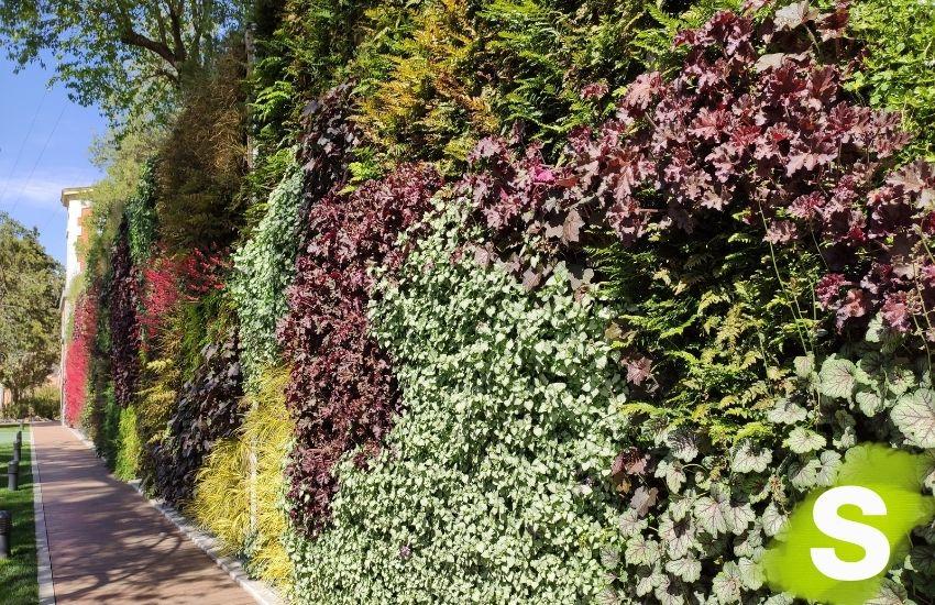 Jardín vertical en el parque del canal Isabel II en la calle Bravo Murillo, 42 en Madrid