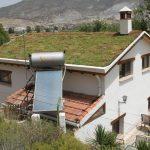 Casa con cubierta vegetal
