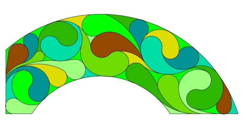 Diseño de un jardín vertical en forma de arco