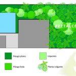 Diseño para restaurante muro verde artificial