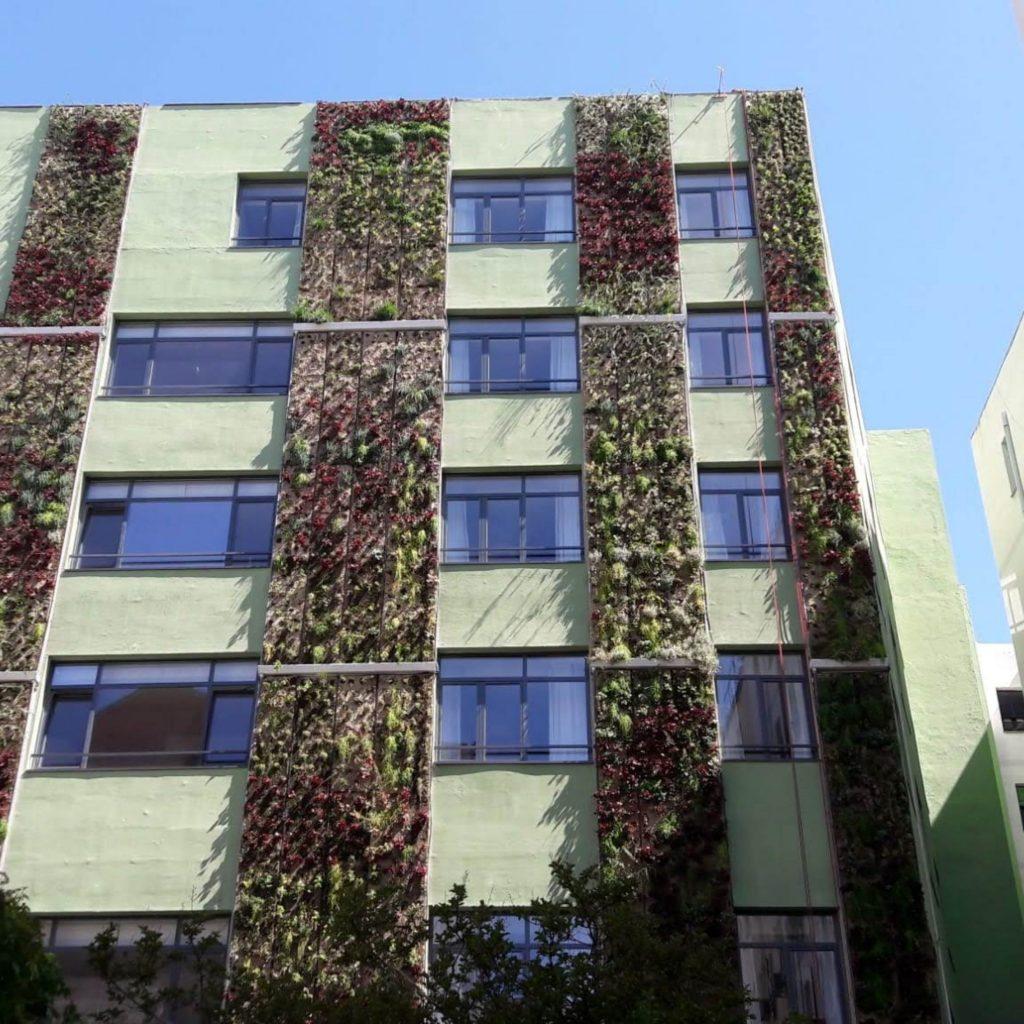 jardín vertical semillado en Madrid
