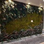 Jardín vertical artificial en oficinas en valencia