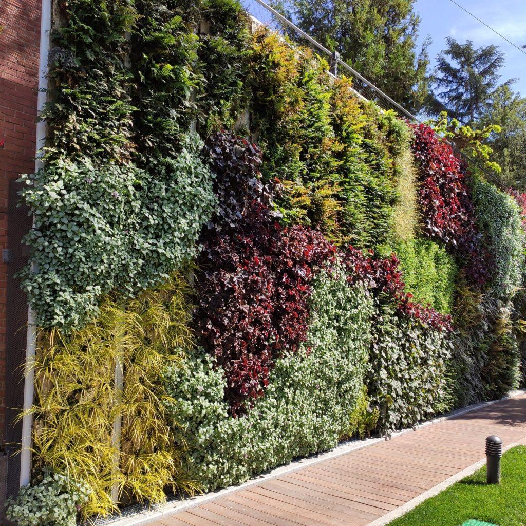 Jardín vertical en el canal de Isabel II en Madrid