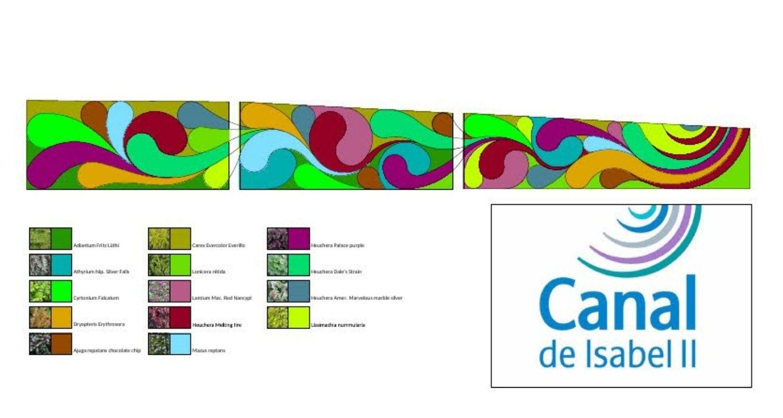 Diseño para un jardín vertical en Madrid