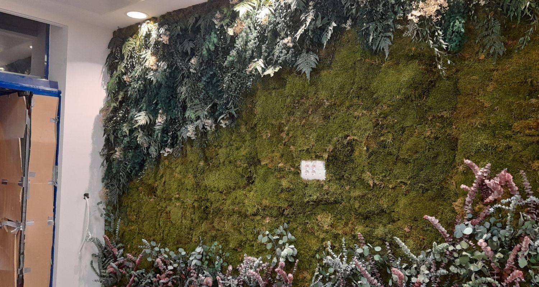 Muro verde artificial oficinas valencia