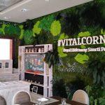 Retail restaurante muro verde