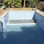 Plantación en una piscina natural
