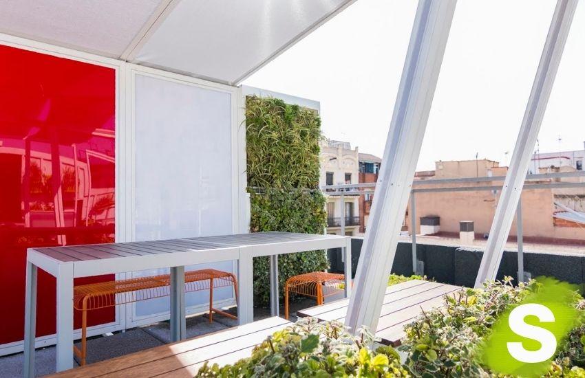 Jardín vertical terraza en Barcelona