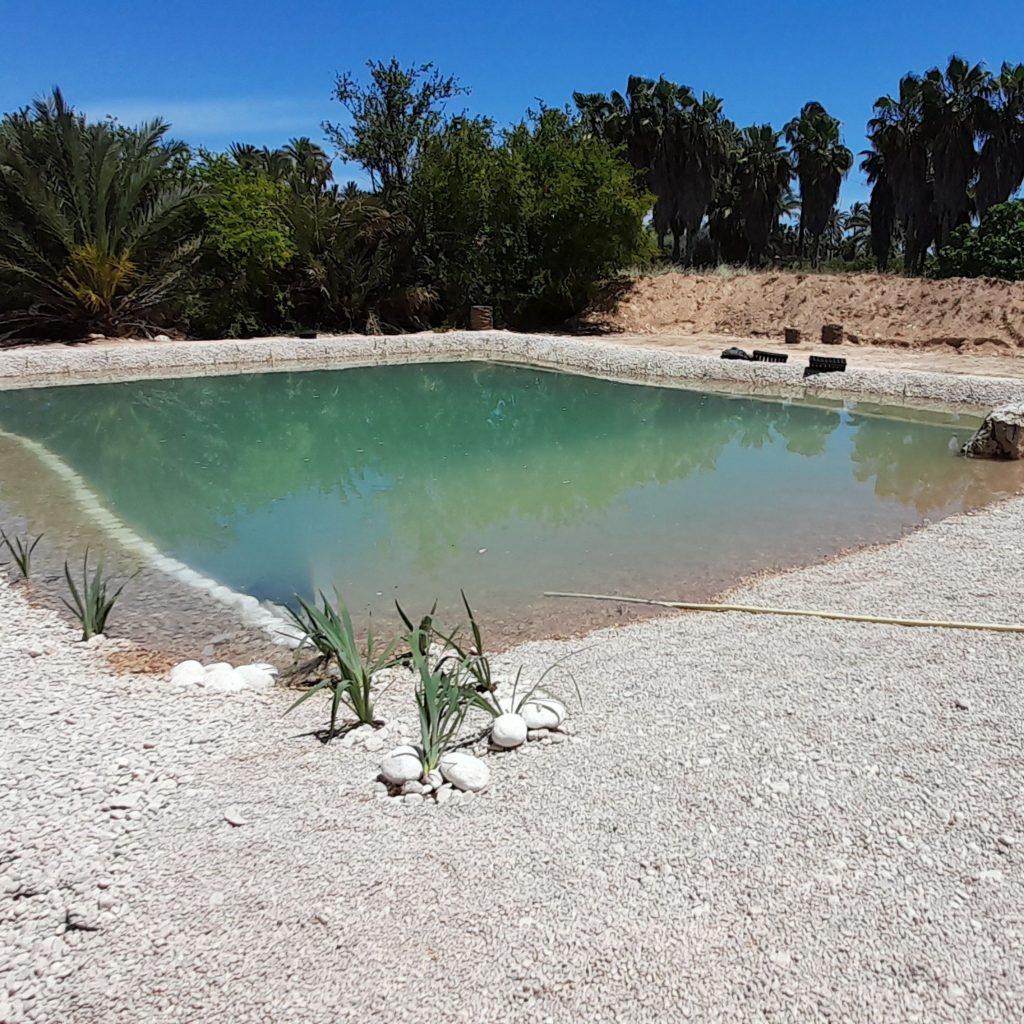Piscina natural con playa en Elche Alicante